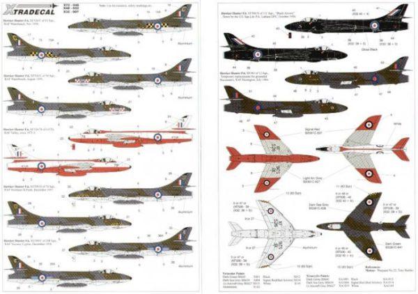 Hawker Hunter F6 12, 56 y 208 Sqns. 78 Sqn/ 4 FTS, 11 Sqn. Black Arrows Leader