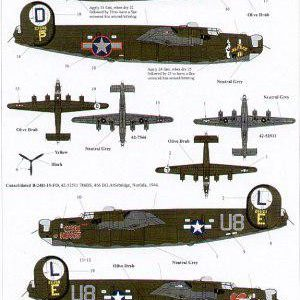 B-24H Liberators, 8th Air Force