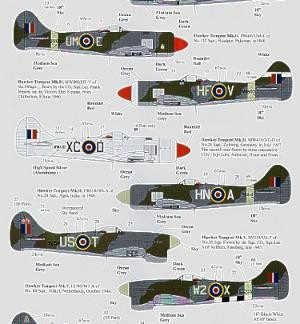 Hawker tempest Mk II and Mk V