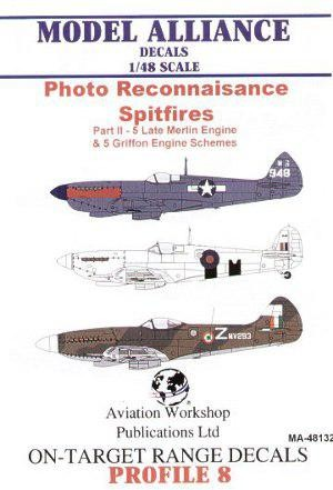 Photo Reconnaisance Spitifres. Late Merlin Engine & 5 Griffon engine Schemes