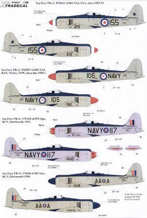 Hawker Sea Fury FB 11/ FB 50 Fleet Air Arm (FAA), Royal Australian Navy, Royal Canadian Navy, Royal Netherlands Navy