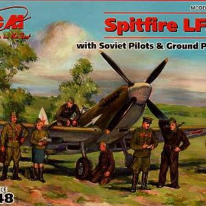 Spitfire LF.IX E with Soviet Pilots and Ground Personnel