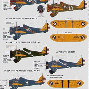 Boeing P-26 A Peashooter U.S.A.A.C.