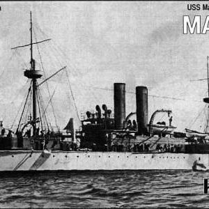 USS Maine Battleship 1895