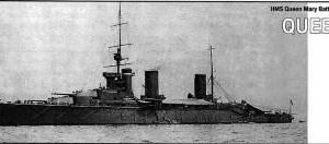 Battlecruiser HMS Queen Mary 1916