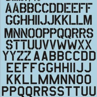 USAF modern Stencil Letters & Numbers