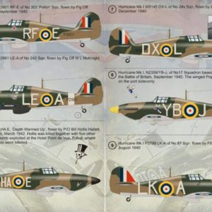 Hurricane Mk I Aces, The Battle of Britain