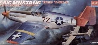 """P-51 C Mustang """"Red Tails"""""""