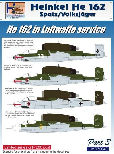 He-162 in Luftwaffe Service Part 3