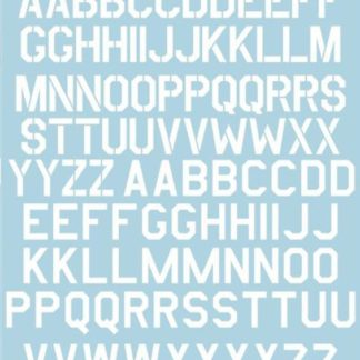 USAF Modern Stencil Letters & Numbers White