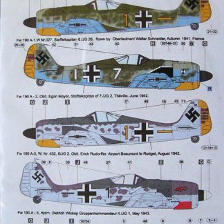 German Aces in Focke Wulf Fw 190 A's Part I