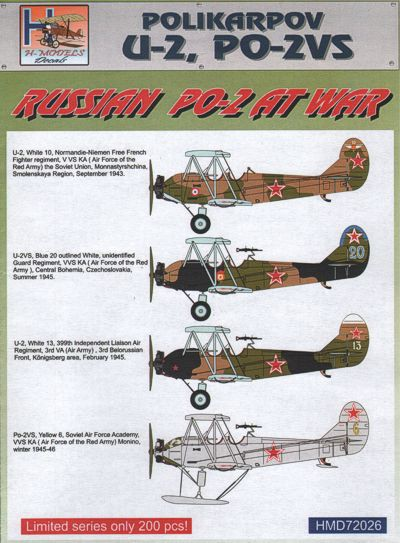 Polikarpov U-2 PO-2VS at War