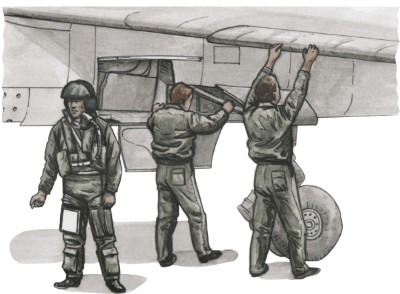 French pilot and Two Mechanics for Special Hobby Mirage F.1C