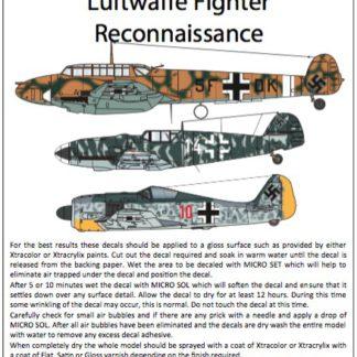 Luftwaffe Fighter Reconnaisance