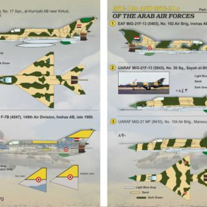 Mig-19 and Mig-21 of the Arab Air Force Part 2