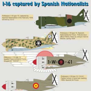 Polikarpov I-16 captured by Spanish Nationalists part 3