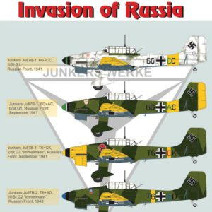 Junkers Ju-87 B Stuka. Invasion of Russia