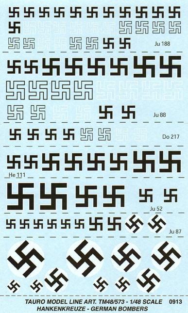 1/48 Swastikas for bombers
