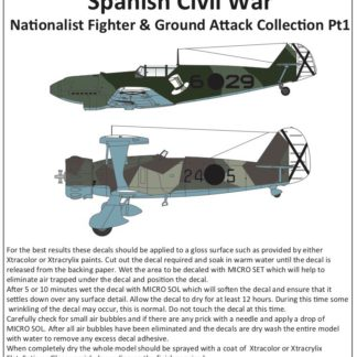 1/72 Spanish Civil War Nationalist Fighter and ground Attack Collection Pt.1