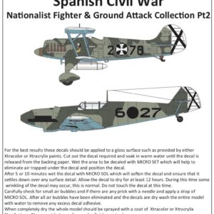 1/72 Spanish Civil War Nationalist Fighter and ground Attack Collection Pt.2