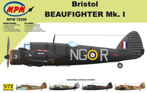 1/72 Bristol Beaufighter Mk I