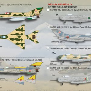 1/72 MIG-19s and MIG-21s of the Arab Air Force