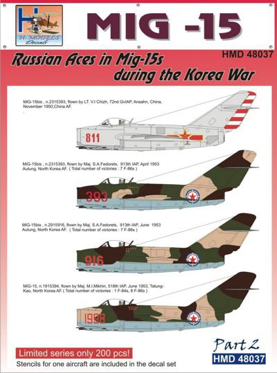 1/48 MiG15 Russian Aces in Mig-15s During The Korea War Part 2