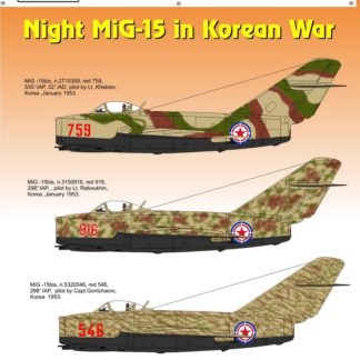 1/48 Night MiG15 in Korean War