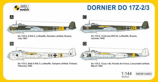1/144 Dornier Do-17 Z-2/3