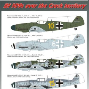 1/72 Bf 109s over the Czech territory Part 2