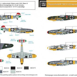 1/48 Messerschmitt Bf-109 F-4 in Hungarian Service
