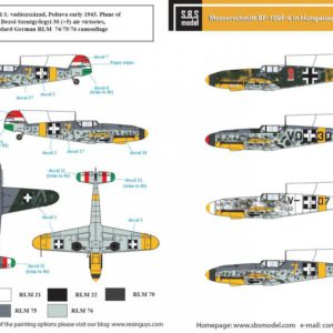 1/72 Messerschmitt Bf-109 F-4 in Hungarian Service Vol II