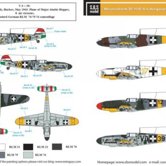 1/72 Messerschmitt Bf-109 F-4 in Hungarian Service Vol I