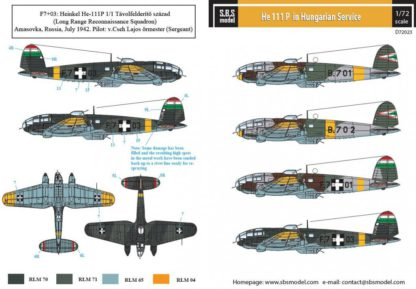1/72 He-111 P in Hungarian service