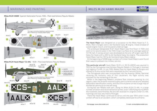 1/72 Miles M.2H Hawk Major Spanish Civil War