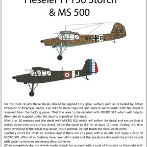 1/72 Fieseler Fi-156 Storch and MS-500