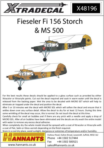 1/48 Fieseler Fi-156 Storch and MS-500