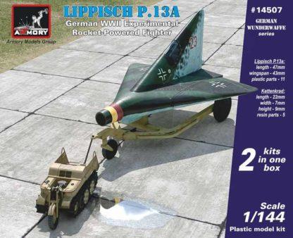 1/144 Lippisch P13a w/ Kettenkrad