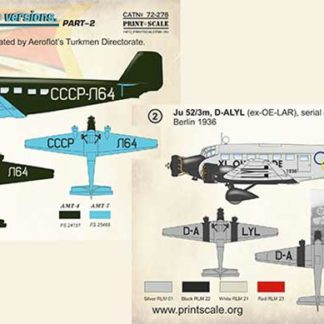 1/72 Junkers Ju-52 Civil Versions Part 2