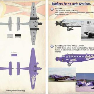 1/72 Junkers Ju-52 Civil Versions Part 3
